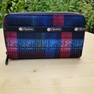 Lesportsac plaid wallet NWOtags